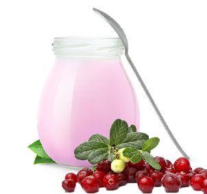 Йогурт с брусникой